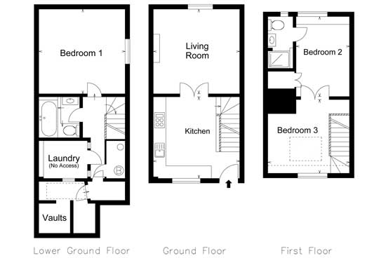 Benson Cottage floor plan